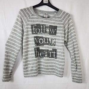 Other - Grey Striped Pull Over Sweater Size XL Junior